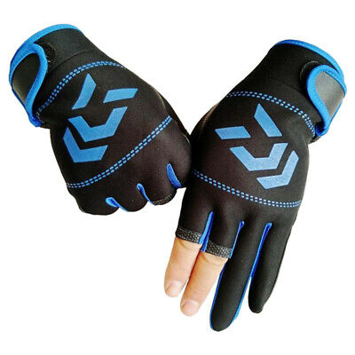 Durable Breathable Anti-slip 3 Fingers Protective Gloves for Outdoor Fishing Durable Anti Slip Protection