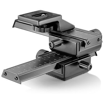 Neewer 4-way Macro Focusing Rail Slider for Canon Nikon Sony Sigma SLR Pentax