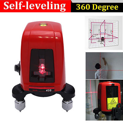 360 2 Line 1 Point Self-leveling Cross Laser Level Semiconductor Laser Ak435