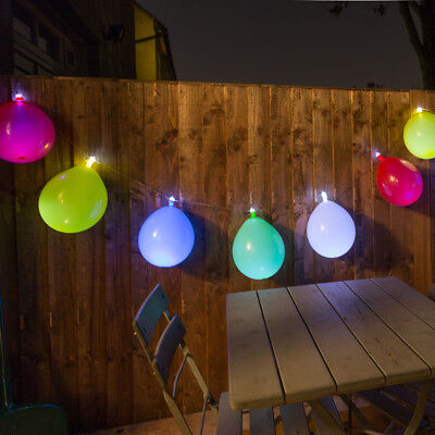NEW Balloon String Lights 12.5 Feet w/ 10 LEDs Full 24 Hours Of Illuminated Fun