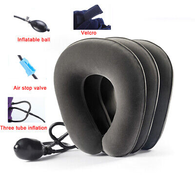 Manual Air Inflatable Pump Pillow Neck Head Traction Support Device