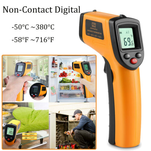 Infrared Thermometer Temperature Gun Non-contact Digital LCD