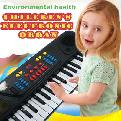 37 Key FM Radio Electronic Keyboard Piano Musical Mic Toy for Kids Childrens NJ