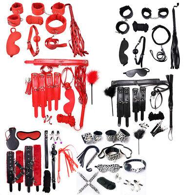10' Plüsch (7/10x Leder Plüsch Erotikspiel Handschellen Fesselset Sexspielzeug Set Geschenk)