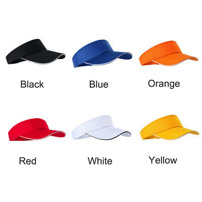 - Summer Fashion Men Women Plain Visor Sun Cap Adjustable Sports Tennis Beach Ha