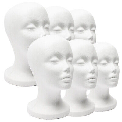 Foam Mannequin Female Head Model Dummy Wig Glasses Hat Display Stand Rack Easy