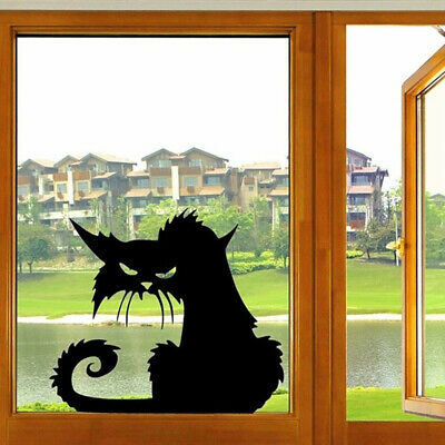 Diy Halloween Bedroom Decorations (Halloween Black Cats Waterproof Wall Sticker Home Door Bedroom Decal DIY Decor)