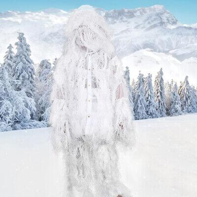 Ghillie Suit Woodland Camouflage Jungle Camo Pants Jacket Hood Gun Bag Set White](Cheap Ghillie Suits)