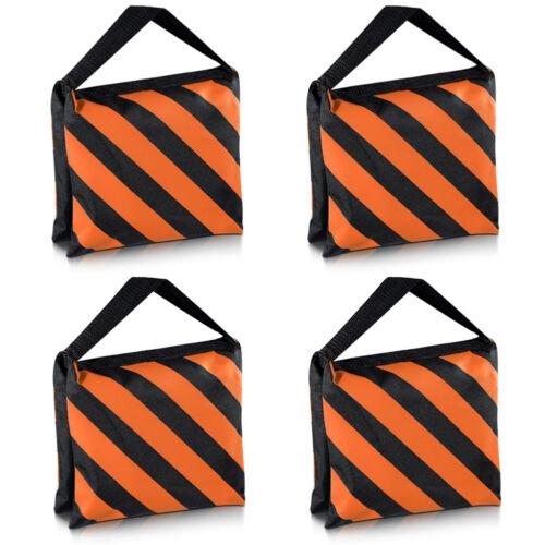 Neewer 4pcs Black/Orange Heavy Duty Studio Video Light Stand Sandbag