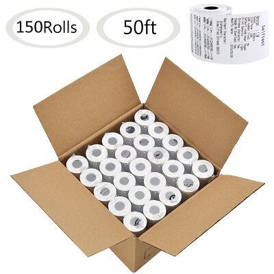150 Roll 2 14 X 50 Thermal Paper Cash Register Pos Receipt Paper Vx520 Ict220