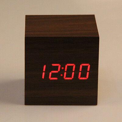 New USB/AAA Wooden Wood Digital LED Desk ...