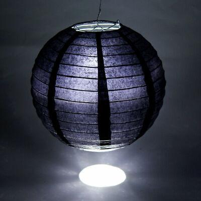 Schwarz 10x  Papierlaterne Lampions 20cm Hängedekoration  mit 10 LEDs Hochzeit