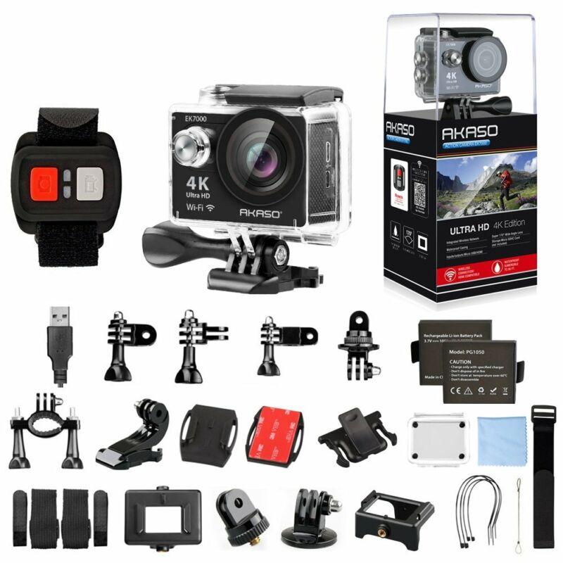 AKASO EK7000 4K WIFI Sports Action Camera Ultra HD 12MP DV Camcorder refurbished