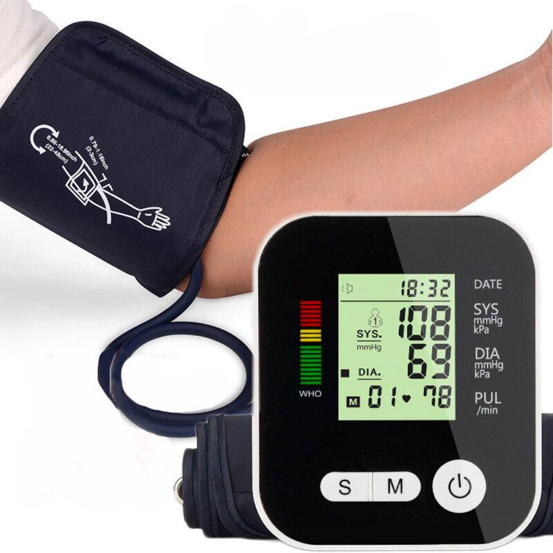 Digital LCD Upper Arm Blood Pressure Pulse Monitor Auto Sphygmomanometer + Voice