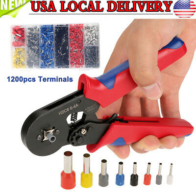 Wire Crimping Pliers Tool Ferrule Crimper 0.25-10mm 1200pcs Crimp Terminals S