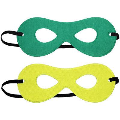 Child Green/Yellow Reversible Superhero Mask ~ HALLOWEEN KIDS COSTUME PARTY MASK - Green Superhero Mask