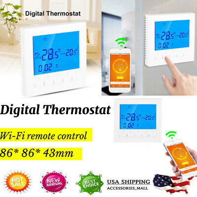 Home Programmable Wifi Wireless Heated Digital Thermostat LC