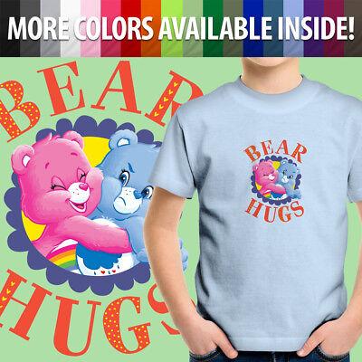 Care Bears Cheer Grumpy Bear Hugs Best Friends Fun Unisex Kids Tee Youth (Best Friends Child Care)