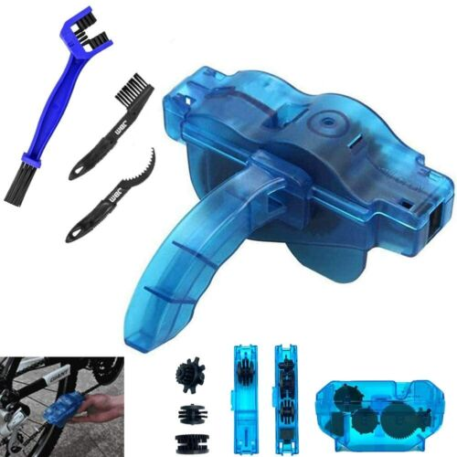 Bicycle & Motorcycle Chain Cleaner Tool Maintenance Kit -Gear Chain Cleaner 4Pcs