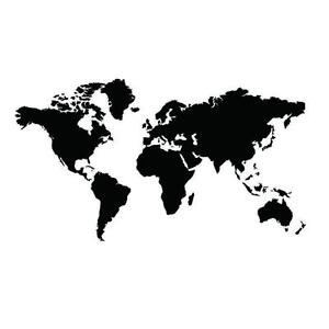 Map of the world wall sticker ebay large black map of the world wall sticker decal vinyl art home decor kids room gumiabroncs Gallery