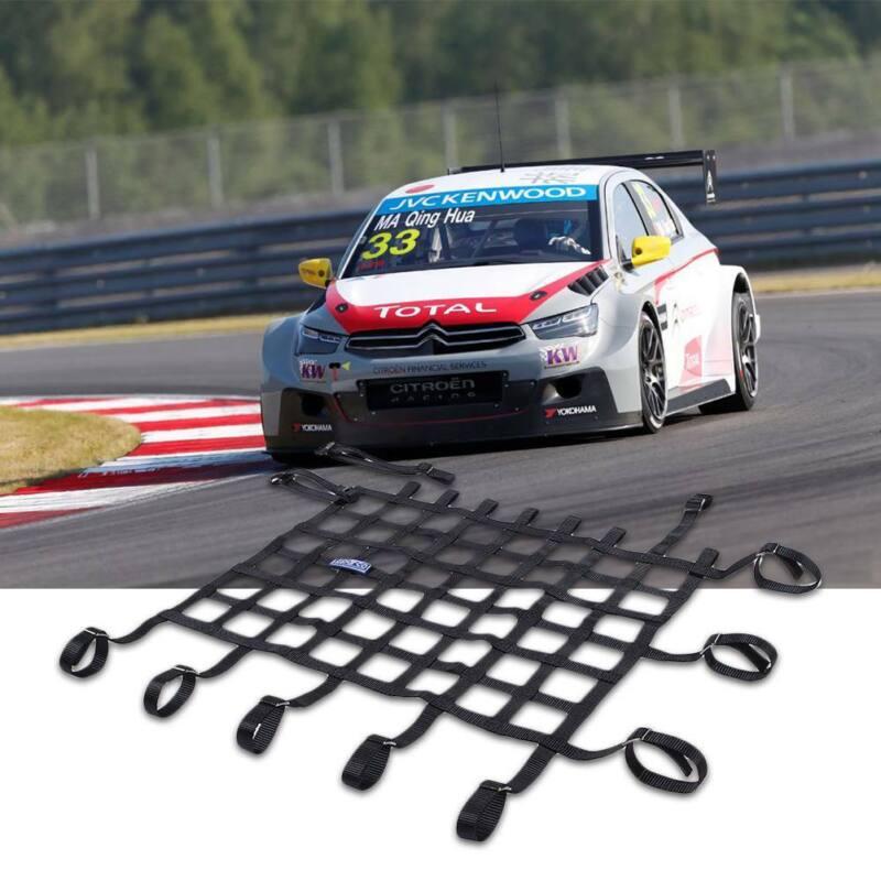 45*60CM Racing Window Net For Car Window Safety Equipment Nylon Webbing Black