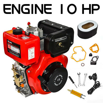 10hp Diesel Engine 411cc Vertical 4 Stroke Single Cylinder 72.2mm Shaft Length
