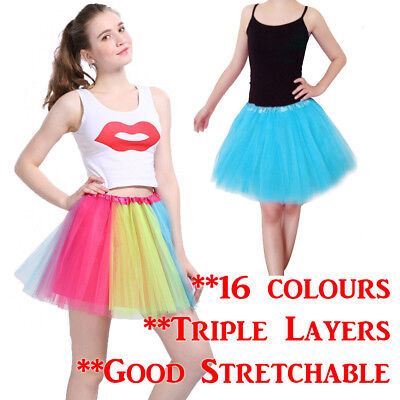 Triple Layer Adults Dance Ballet Skirt Tutu Dress - Triple Kostüme