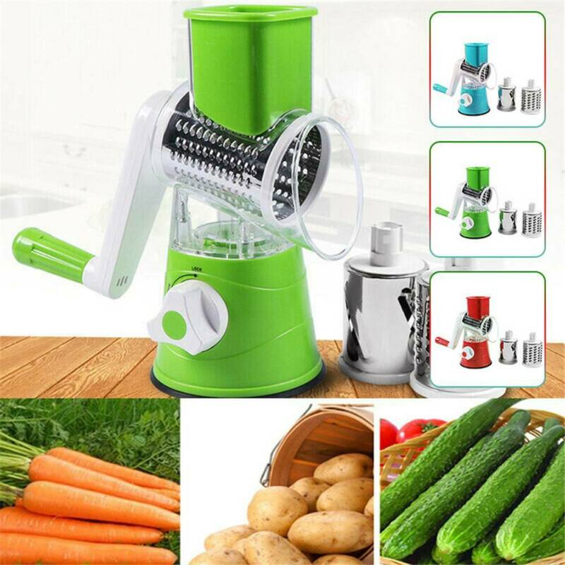 1 PCS Rotary Cheese Grater Hand Crank Stainless Steel Veg Fo