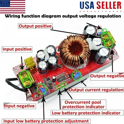 1800w 40a Dc-dc Step-up Boost Voltage Converter Constant Current Power Module Us