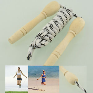Skipping Rope Motion Wood Handle Child Kid Fitness Exercise Speed Jump