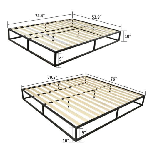 Twin / Full / Queen Platform Metal Bed Frame Heavy Duty Matt