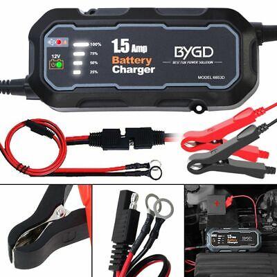 HOT Smart Car Battery Charger Maintainer for 12V AGM GEL WET Battery...