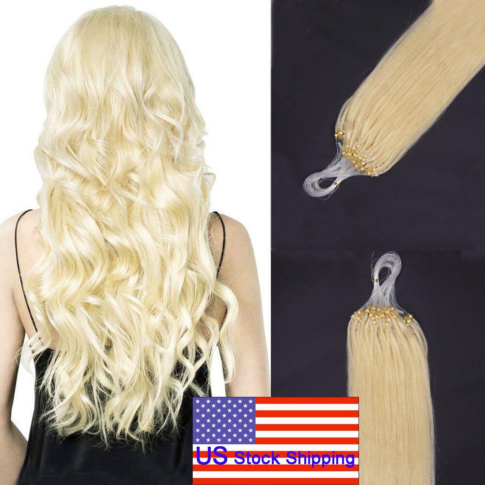 Diy Easy Loop Micro Ring Beads Tip Remy Human Hair Extensions