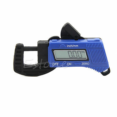 0-12.7mm Electronic Digital Lcd Thickness Caliper Carbon Fiber Micrometer Guage