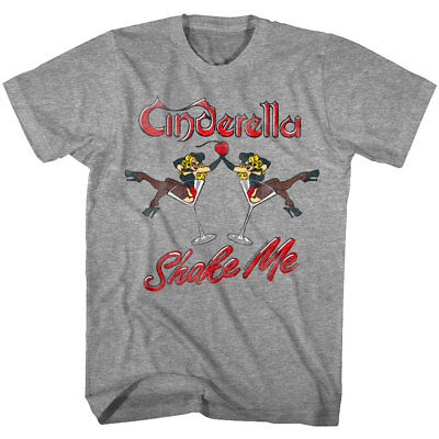 Glam Girl T-shirts - Cinderella Shake Me Martini Girls Men's T Shirt Glam Metal Rock Band Concert Top