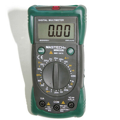 Mastech Ms8233b 19-range Multimeter Backlight Diode Ac Tester