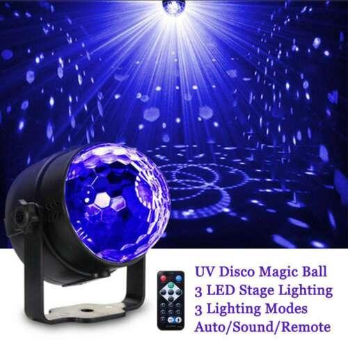 Disco Lichteffekt UV Discokugel Bühnenlicht LED DJ Party Schwarzlicht Remote CE