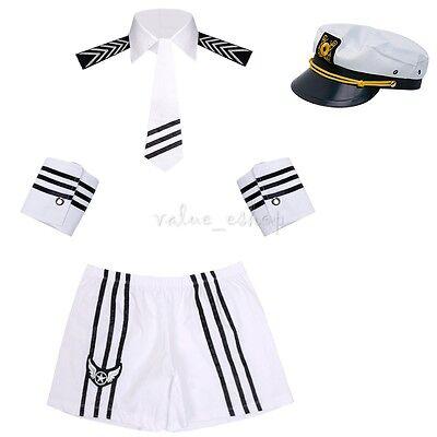 Sexy Lingerie Navy Captain Costume Mens Sailor Uniform Fancy Dress Party - Navy Captain Uniform Costume