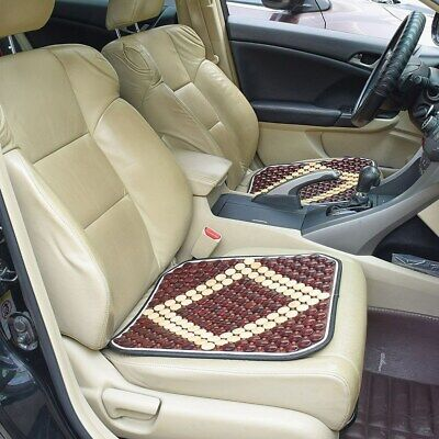 1x Brown Summer Wooden Beads Car Truck Seat Cushion Home Office Chair Seat -