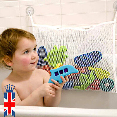 UK Kids Baby Bath Time Toys Storage Drain Suction Pouch Playtime Tidy Bag Holder