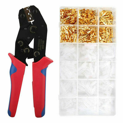 Electrical Crimper Kit Wire Terminal Crimping Plier Tool Male Female Connectors