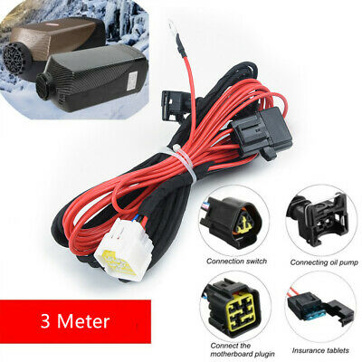 Split Diesel Air Heater Wiring Loom Power Supply Cable Adapter 5.5 Meters Parts