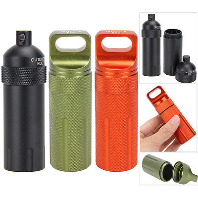 EDC Survival Kit Waterproof Pill Case Box Container Trabel Hiking Emergency Gear
