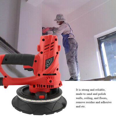 Electric 110v Drywall Sander Tools Polisher Grinding Machine W Led Light 1580w