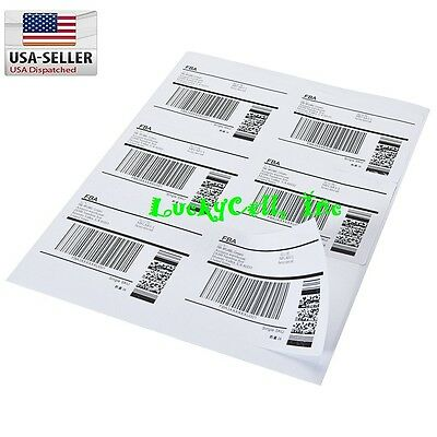 1200 Shipping Address Amazon Fba Labels 6 Per Sheet 6up 4x3.33 200 Sheets