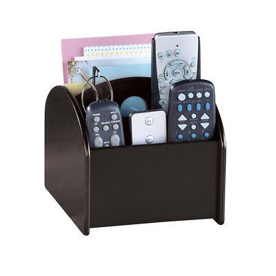 Remote Control Holder Swivel Storage Caddy Multi-Compartments