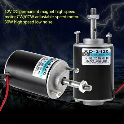 Xd-3420 12v 30w Permanent Magnet Dc Motor High Speed Cwccw For Diy Generator Us