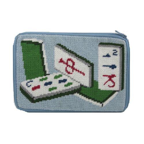 Stitch & Zip Needlepoint Cosmetic Case Kit - Mah Jong