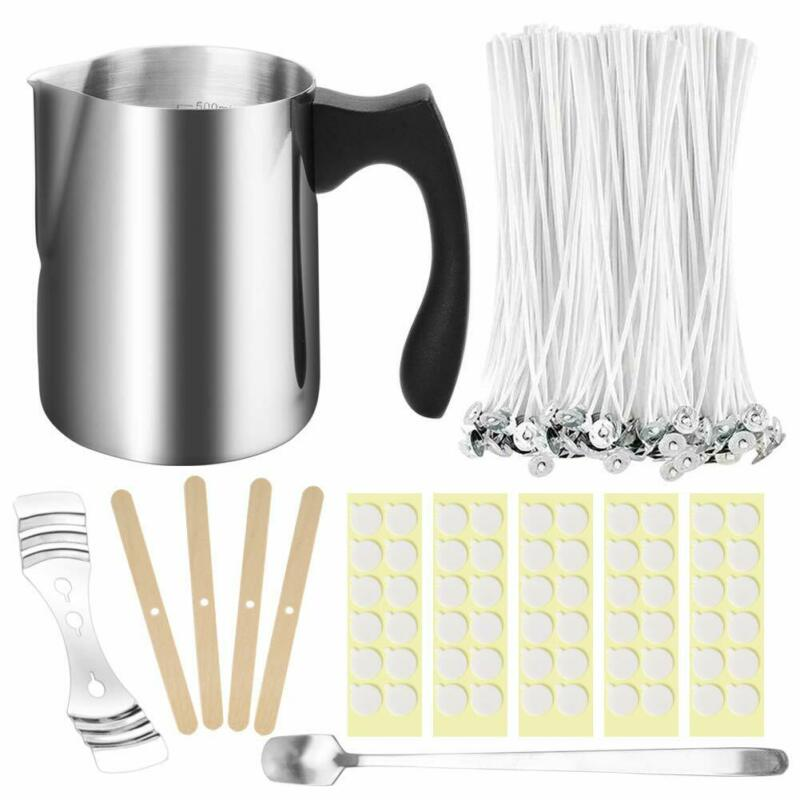 207pcs Candle Making Kit with Wicks, Pour Cup, Spoon, Sticker, Holder for DIY