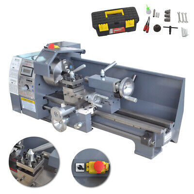 8x16 Variable-speed Mini Metal Lathe Woodworking Metal Gears Bench 750w 110v